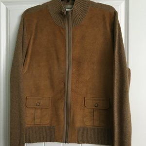 The Territory Ahead Suede Sweater Jacket
